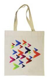 100% Cotton or Poly/Cotton,  reusable shopping/convention  tote